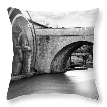 Watermill Throw Pillow by Alfio Finocchiaro