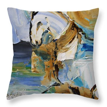 Waterplay Horse 9 2014 Throw Pillow