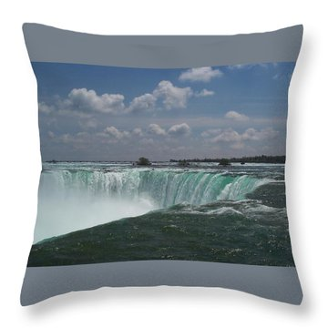 Throw Pillow featuring the photograph Water's Edge by Barbara McDevitt
