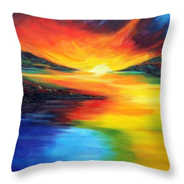 Waters Of Home Throw Pillow by Meaghan Troup