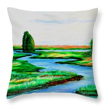 Waters Way Throw Pillow