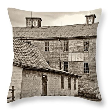 Waterside Woolen Mill Throw Pillow by Steve Harrington