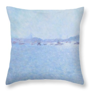 Waterway Of Beautiful France Throw Pillow