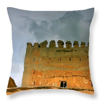 Watery Alhambra Throw Pillow