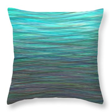 Watery Deep Throw Pillow by Will Borden