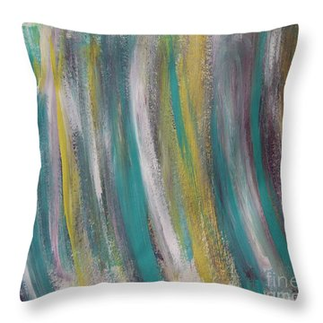 Watery Throw Pillow