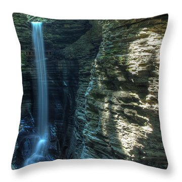 Watkins Glen Throw Pillow by Dave Files
