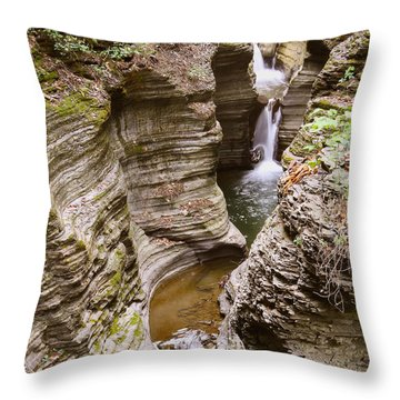 Watkins Glen Curves  Throw Pillow