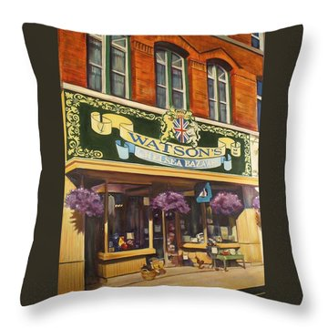 Watson's Chelsea Bazaar Throw Pillow by Sheila Diemert