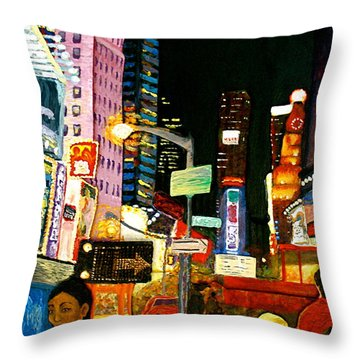 Throw Pillow featuring the painting Wattage by D Renee Wilson