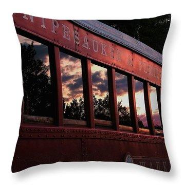 Waukewan Train Throw Pillow