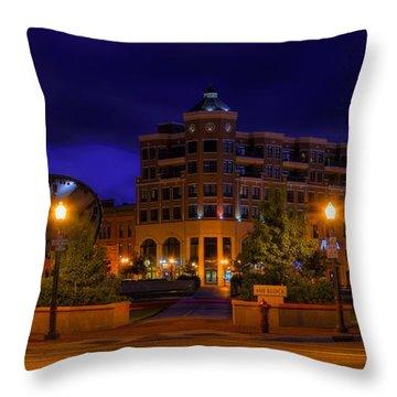 Wausau's 400 Block After Dark Throw Pillow