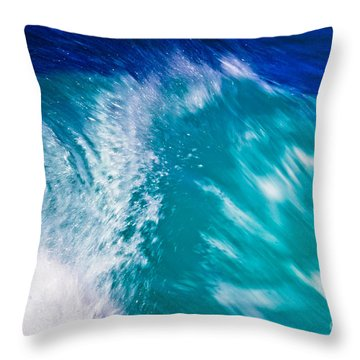 Wave 01 Throw Pillow