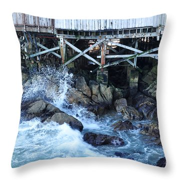 Wave Action Throw Pillow by Susan Wiedmann