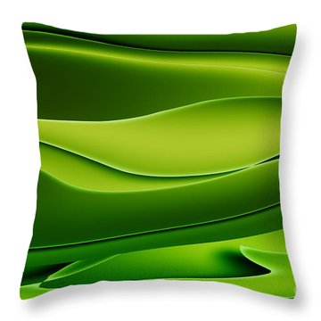 Wave Art V Throw Pillow by Ludek Sagi Lukac