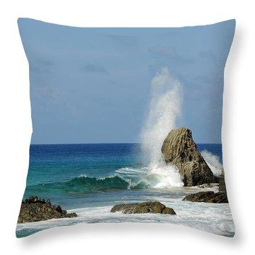Wave At Boldro Beach Throw Pillow