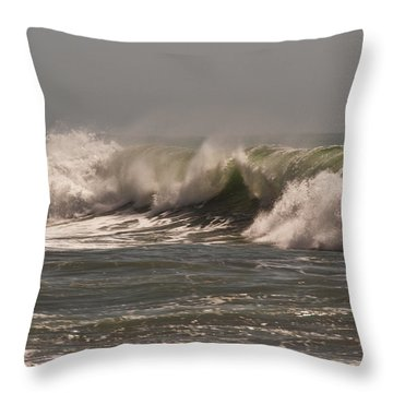 Throw Pillow featuring the photograph Wave At Kirk Creek Beach by Lee Kirchhevel