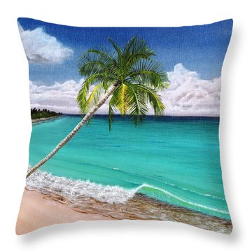 Wave Break Beach Throw Pillow by Kevin F Heuman