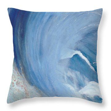 Wave Break Throw Pillow