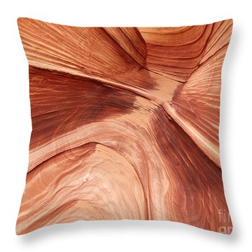 Wave Canyon - 11 Throw Pillow