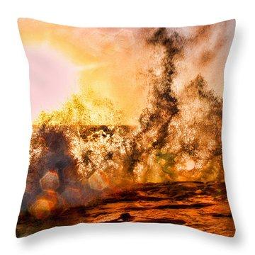 Wave Crasher La Jolla By Diana Sainz Throw Pillow
