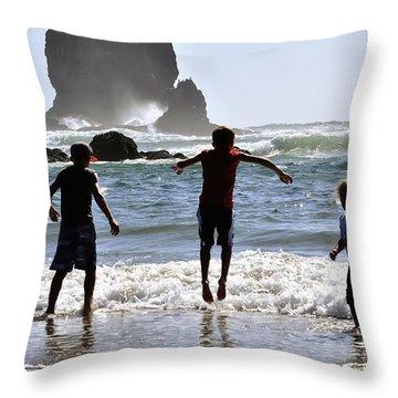 Wave Jumping 25614 Throw Pillow