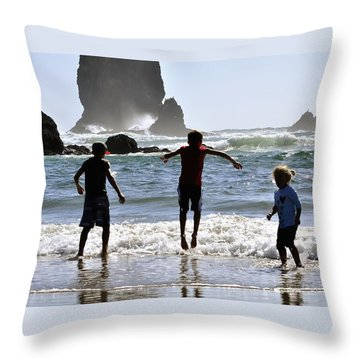 Wave Jumping 25614 Throw Pillow