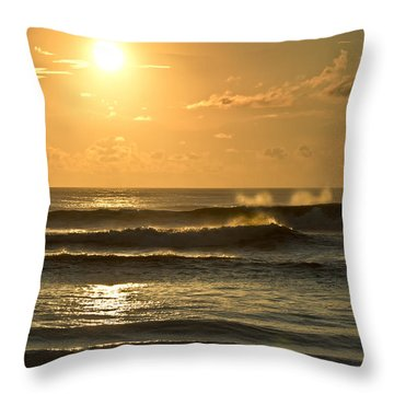 Waves Of Life Throw Pillow