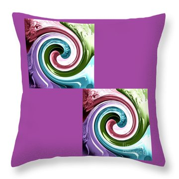 Wave Of Purple Throw Pillow