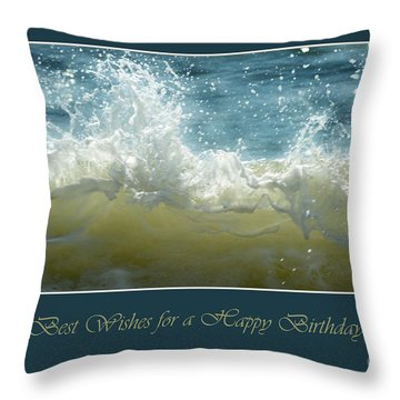 Throw Pillow featuring the photograph Wave by Randi Grace Nilsberg