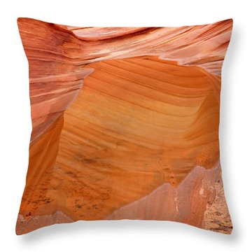 Wave Reflex Throw Pillow