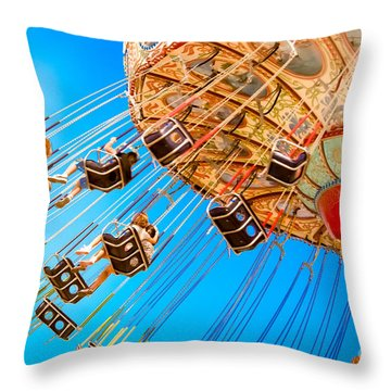 Wave Swinger  Throw Pillow by Colleen Kammerer