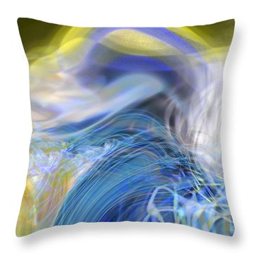 Wave Theory Throw Pillow by Richard Thomas