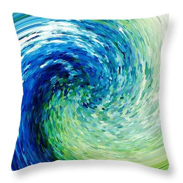 Wave To Van Gogh Throw Pillow