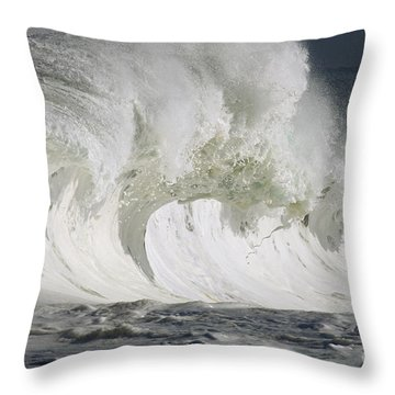 Wave Whitewash Throw Pillow by Vince Cavataio