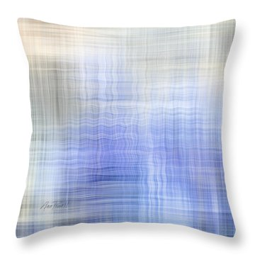 Wavelength - Abstract Art Throw Pillow