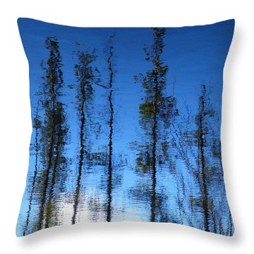 Wavering Throw Pillow by Brian Boyle