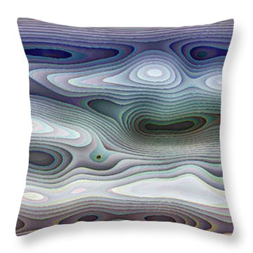 Abstract Waves 15 Throw Pillow by Walt Foegelle