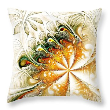 Waves And Pearls Throw Pillow by Anastasiya Malakhova