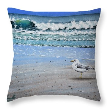 Waves And Rays Throw Pillow