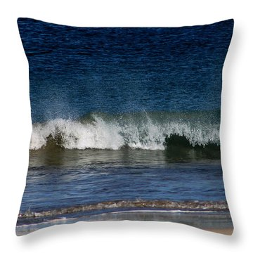 Waves And Surf Throw Pillow