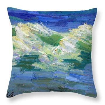 Waves At Rosarito Throw Pillow