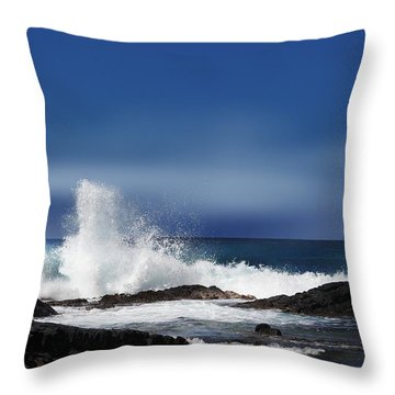 Throw Pillow featuring the photograph Waves by Athala Carole Bruckner