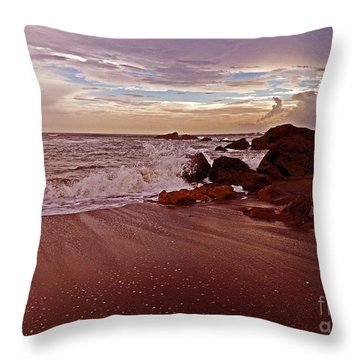 Waves Break Hands Shake Throw Pillow