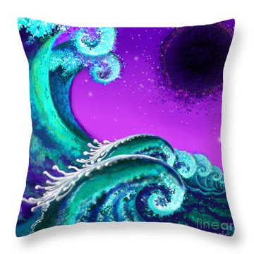 Waves Throw Pillow by Carol Jacobs