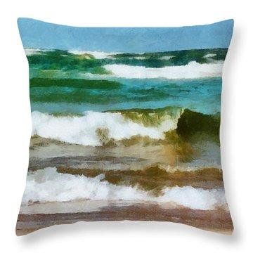Waves Crash Throw Pillow