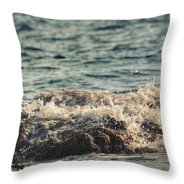 Waves In Time IIi Throw Pillow by Taylan Apukovska