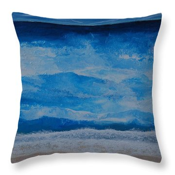 Waves Throw Pillow by Linda Bailey