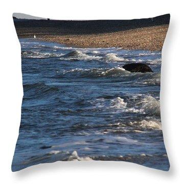 Waves Miller Place Beach New York Throw Pillow