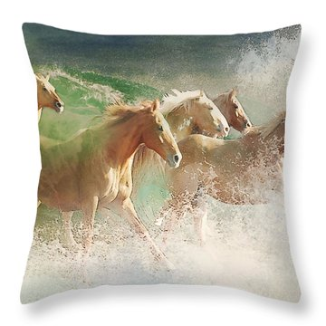 Waves Of God's Glory Throw Pillow